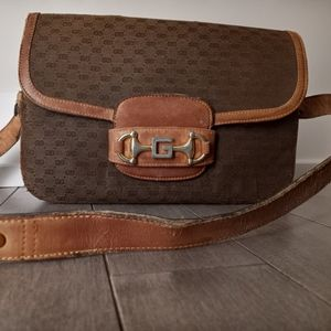 Authentic OLD Vintage GUCCI 1955 Horsebit Bag Used